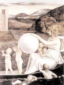 figura 114 - L' Incostanza, le Allegorie del Restello del Bellini. Accademia, Venezia (Italia)