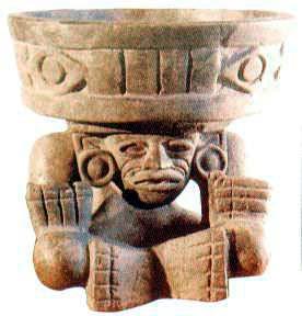 """Figura 198 - """"Il vecchio del fuoco"""". Museo di antropologia Messico."""