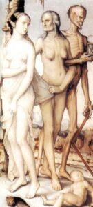 """""""Le età e la morte"""" di Hans Baldung. Museo del Prado, Madrid. (Spagna)."""