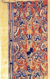 Fig. 31. Miniatura. L'Albero di Giuseppe. Biblioteca Laurenziana. Firenze (Italia)