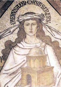 figura 86 - Plastico di un Tempio. Mosaico della Cattedrale di Colonia. (Germania)