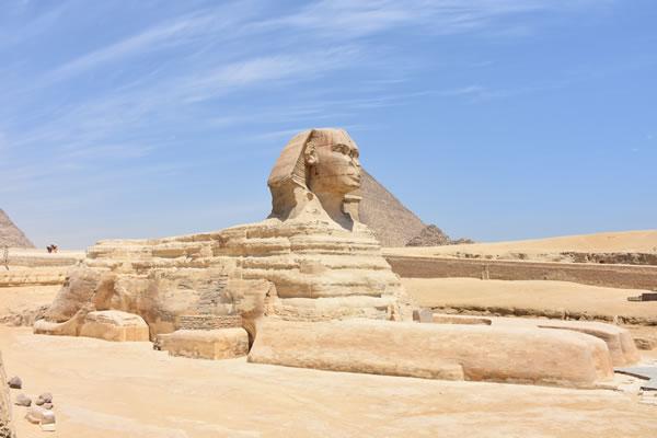 La grande sfinge di Giza in Egitto