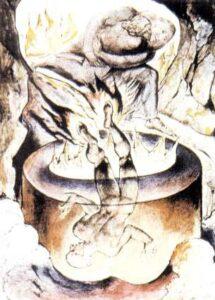 figura 163 - Il Papa simoniaco di Blake. Galleria Tate, Londra (Inghilterra)