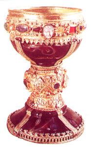 figura 165 - Calice del Rito Visigoto. La Collegiata di S. Isidoro. Leon (Spagna)