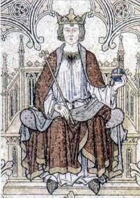 figura 188 - Attributi manifesti: Il Re. Cattedrale di Colonia. (Germania)