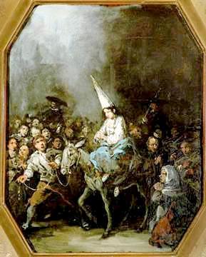 figura 189 - Condannato dall'Inquisizione. Eugenio Lucas, Museo del Prado, Cason del Buen Retiro, madrid. (Spagna)
