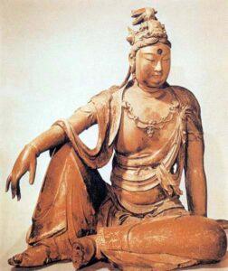 figura 203 - Il Kuan-Yin cinese. Trasformazione del bodhisatva Avalokitesvara in figura femminile, Rijksmusum (Olanda)