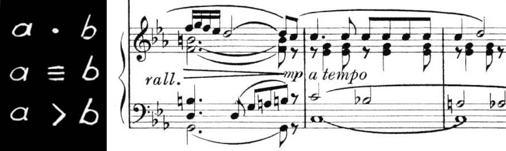 Connettive matematiche e musicali