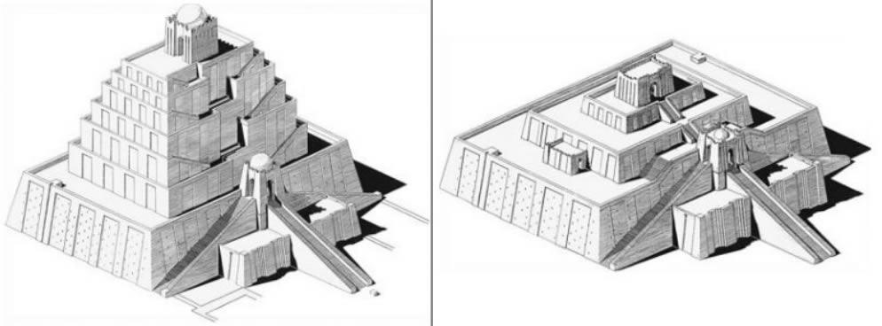 Ricostruzione dello zigurat di Sin (Ur), dell' Istituto di Arte Chicago. (USA).