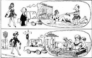 """Tratta da: Quino """"Noi due"""", pag. 40, Fabbri Editore, 1987 Milano"""