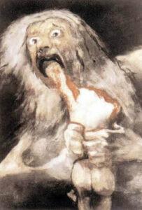 I suoi figli. Goya. Museo del Prado Madrid. (Spagna).