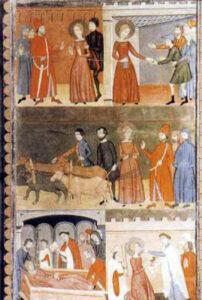 La leggenda di S. Lucia del Maestro De Estimariu. Museo del Prado, Madrid (Spagna)