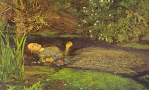 Ofelia. Everet Millais. Galleria Tates, Londra (Inghilterra)