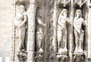 Figura 178 - Selvaggi. Sculture nella facciata del Collegio di S. Gregorio. Valladolid. (Spagna).