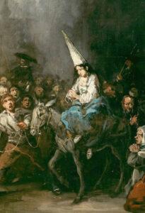 Condannato dall'Inquisizione. Eugenio Lucas, Museo del Prado, Cason del Buen Retiro, Madrid. (Spagna)