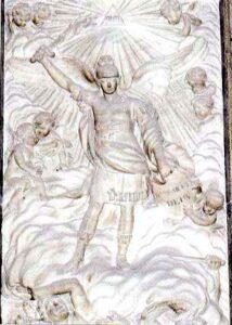 Figura 194 - L'arcangelo San Michele, di Juan Adan. Cattedrale di Granata. (Spagna).