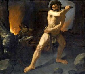 """Figura 195 - """"Ercole e Cerbero"""", Zurbaran. Museo del Prado, Madrid. (Spagna)."""
