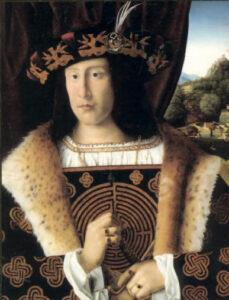 Ritratto dell'Uomo con il labirinto, Bartolomeo Veneto, 1510 (Cambrige)