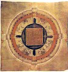 Figura 7 . Rappresentazioni del cosmo, secolo XVIII^. Rajasthan, (India).